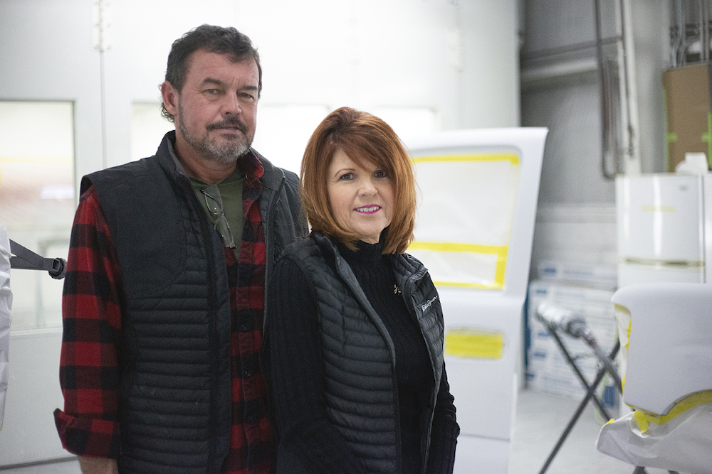 Hardin Valley Body Shop owners smiling